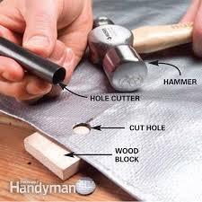 install a tarp grommet the family handyman photo