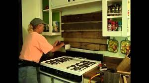 Pallet Wood Backsplash Rustic Kitchen Backsplash Youtube