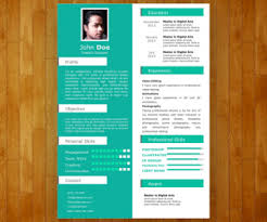 Free One Slide Resume Template For Powerpoint Free Powerpoint