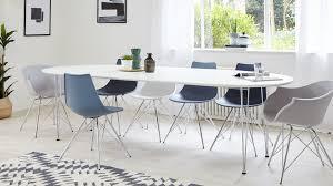 modern white and chrome extending dining table uk