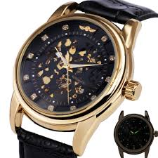 royal diamond watches reviews online shopping royal diamond winner best royal diamond design black gold watch mens business watches top brand luxury skeleton mechanical watch leather strap