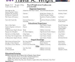 Acting Resume Builder Actor Template Free Generator Online Photos Hq