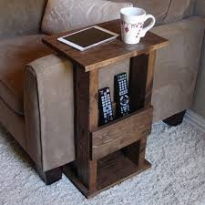 end table. 17 Clever And Creative DIY Tables: 2.Sofa End Table
