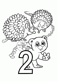 Small Picture Number 2 Coloring Pages Free Coloring Pages
