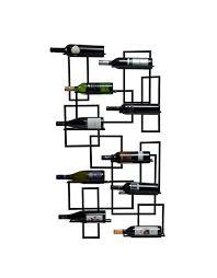 mid century wall mounting wine rack