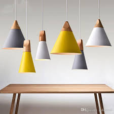 wood lighting. Modern Wood Pendant Lights Lamparas Colorful Aluminum Lamp Shade Luminaire Dining Room For Home Lighting Ceiling S