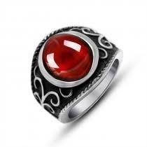 whole snless steel garnet cz vine biker ring