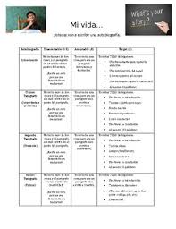 autobiography essay spanish by whatley spanish tpt autobiography essay spanish
