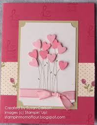 pink hearts bouquet card