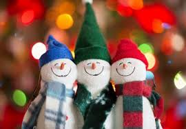 Cute Colorful Snowmen Photography Abstract