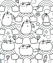Free Pusheen Coloring Pages To Print Colouring Page Free Coloring