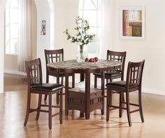 54 astoria dark cherry gl counter height table set kitchen table with storage5 piece dining setdining room setsdining