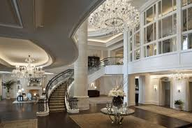 villa house suite hall crystal chandelier flooring stairs fireplace rugs s apartment interior table expensive