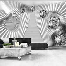 home wallpapers abstract modern wallpaper silver stairs