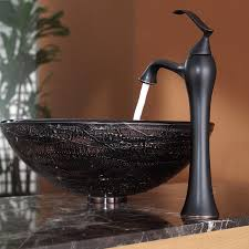 kraus c gv 580 12mm 15000orb copper illusion glass vessel sink and ventus faucet oil rubbed bronze com