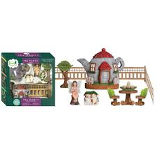 arcadia garden products tea party polyresin fairy garden kit 11 piece