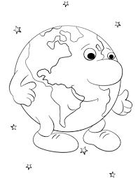 Disegno Di Terra Personaggio Dei Cartoni Animati Da Colorare
