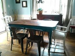 farmhouse table with blue chairs blue farm table and white arm chairs painted with homemade farmhouse