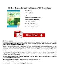 10 Day Green Smoothie Cleanse Pdf Droppdf Upload And Share Your Pdf Documents Quickly And