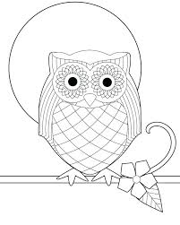 Cute Owl Printable Coloring Pages Coloring Sheets Of Owls Owl Page