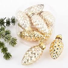 Amazonde Weihnachtskugel Zapfen Premium 8er Set Glas