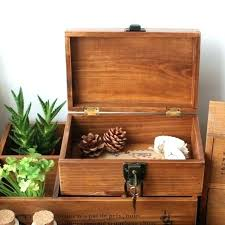 wooden secret lock box plans lockable solid wood vintage retro finishing desktop storage with