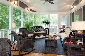 Awesome Sun Porch Decorating Ideas Brings Luxury to Your Home: Inspiring  Traditional Porch Design With
