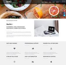 One Page Website Template Adorable Buildr Joomla Do It Yourself Starter Theme