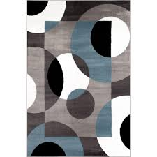 modern circles blue 9 ft x 12 ft area rug
