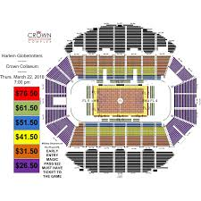 Crown Coliseum Fayetteville North Carolina Seating Chart Harlem Globetrotters Crown Complex