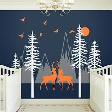 woodland nursery wall decals mountain wall decal with deer woodland forest nursery wall decal triangle mountains