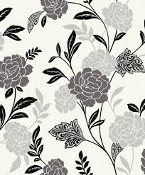 black and white floral wallpaper pattern.  And Carla Black And White Floral Wallpaper In And White Floral Wallpaper Pattern T