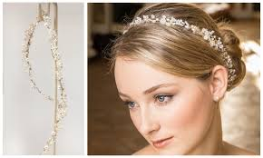 eleanor pearl hair vine wrap wedding accessories