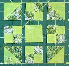 Easy Peasy Prairie Queen Quilt Block: 6, 9  and 12  & Patches arranged in the Prairie Queen design Adamdwight.com