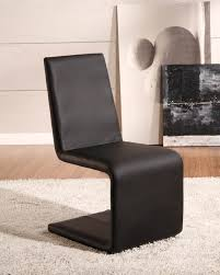 John Lewis Modern Unique Shape Armless Upholstered Dining Chair - Faux leather dining room chairs