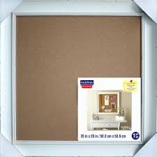 white framed cork board by x decorative diy ctr