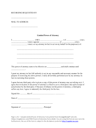 Limited Power Of Attorney Forms Limited Power Of Attorney Maryland Real Estate Motor Vehicle 2