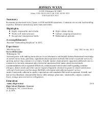 Restaurant Food Runner Job Description Xpertresumes Com