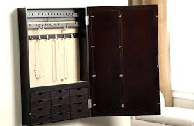 jewelry holder mirror wall mounted jewelry organizer wall mount jewelry box white wall mounted jewelry cabinet with mirror jewelry