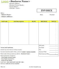 Business Plan Invoice Template Invoice Templates