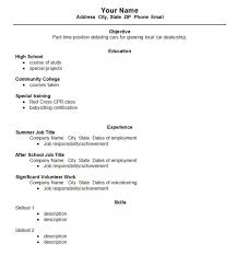 education high school resume high school student resume format template business
