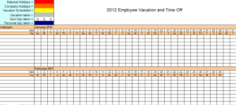 Staff Holiday Planner Excel Template 2016 – Excel Templates and ...