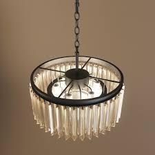 restoration hardware 1920s odeon glass fringe chandelier 3d model max obj fbx mtl