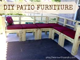 diy furniture build your own outdoor seating life love thyme