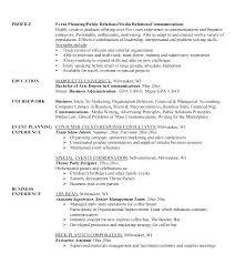 Event Coordinator Resume Cover Letter Event Planner Cover Letter