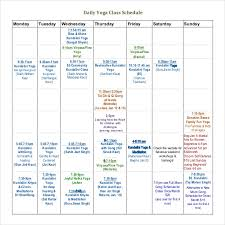 Class Schedule Template - 36+ Free Word, Excel Documents Download ...