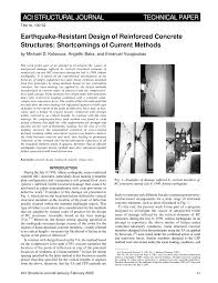 Design Of Rc Structures Pdf Earthquake Resistant Design Of Reinforced Concrete