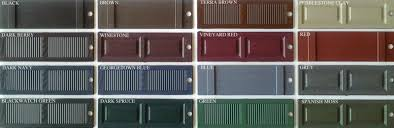 Mid America Shutters Color Chart Shutter Colors For Tan Siding And Brown Roof Mastic