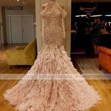 Sparkly Sequin Mermaid Prom Dress 2020 Halter Long Sleeve ...