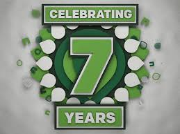 Image result for celebrating 7 years